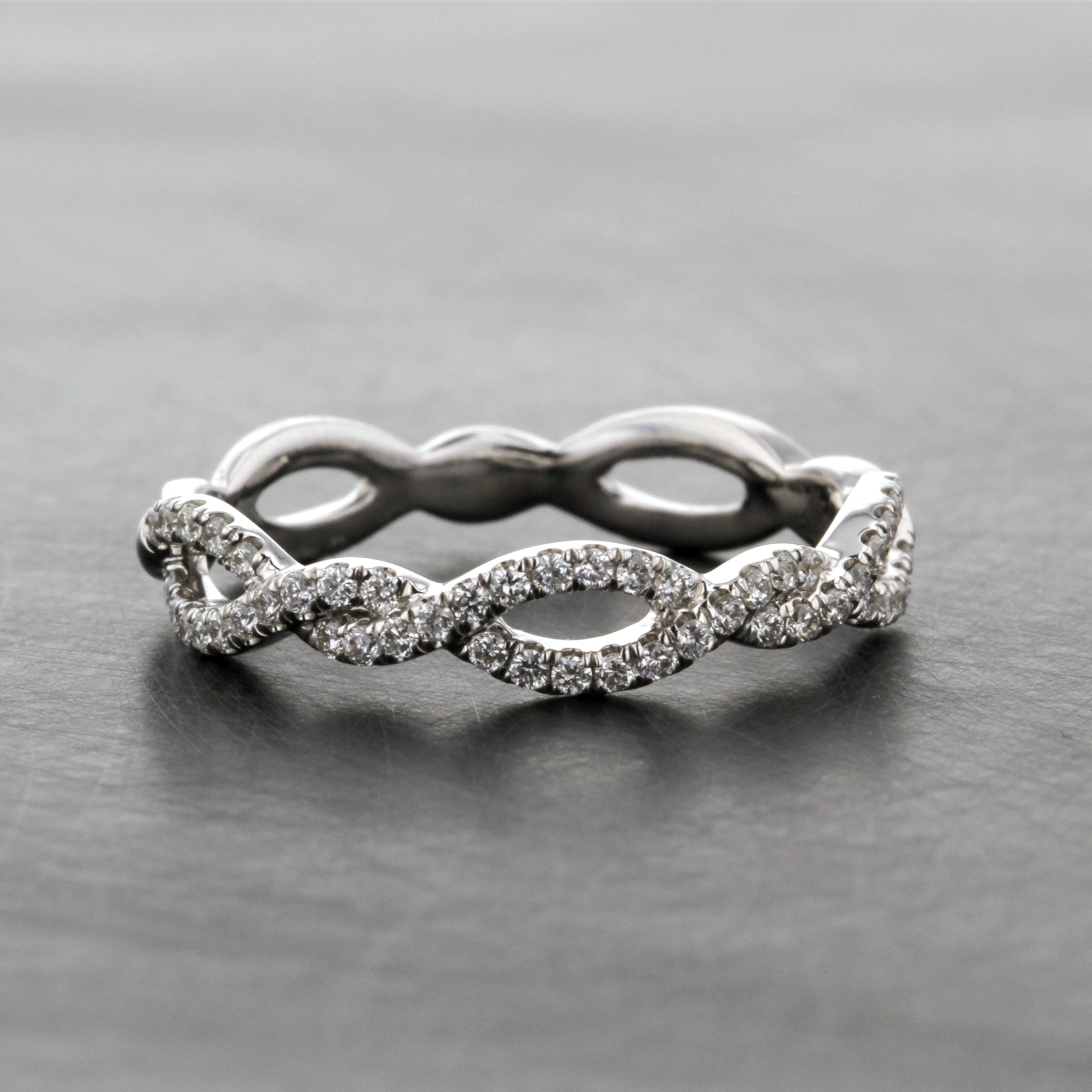 Infinity Wedding Band.Infinity Twist Diamond Intertwined Wedding Band Kizer Cummings Jewelers