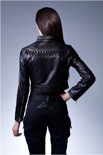 24c7a1486 BRAIDED LEATHER JACKET — SOFIFI