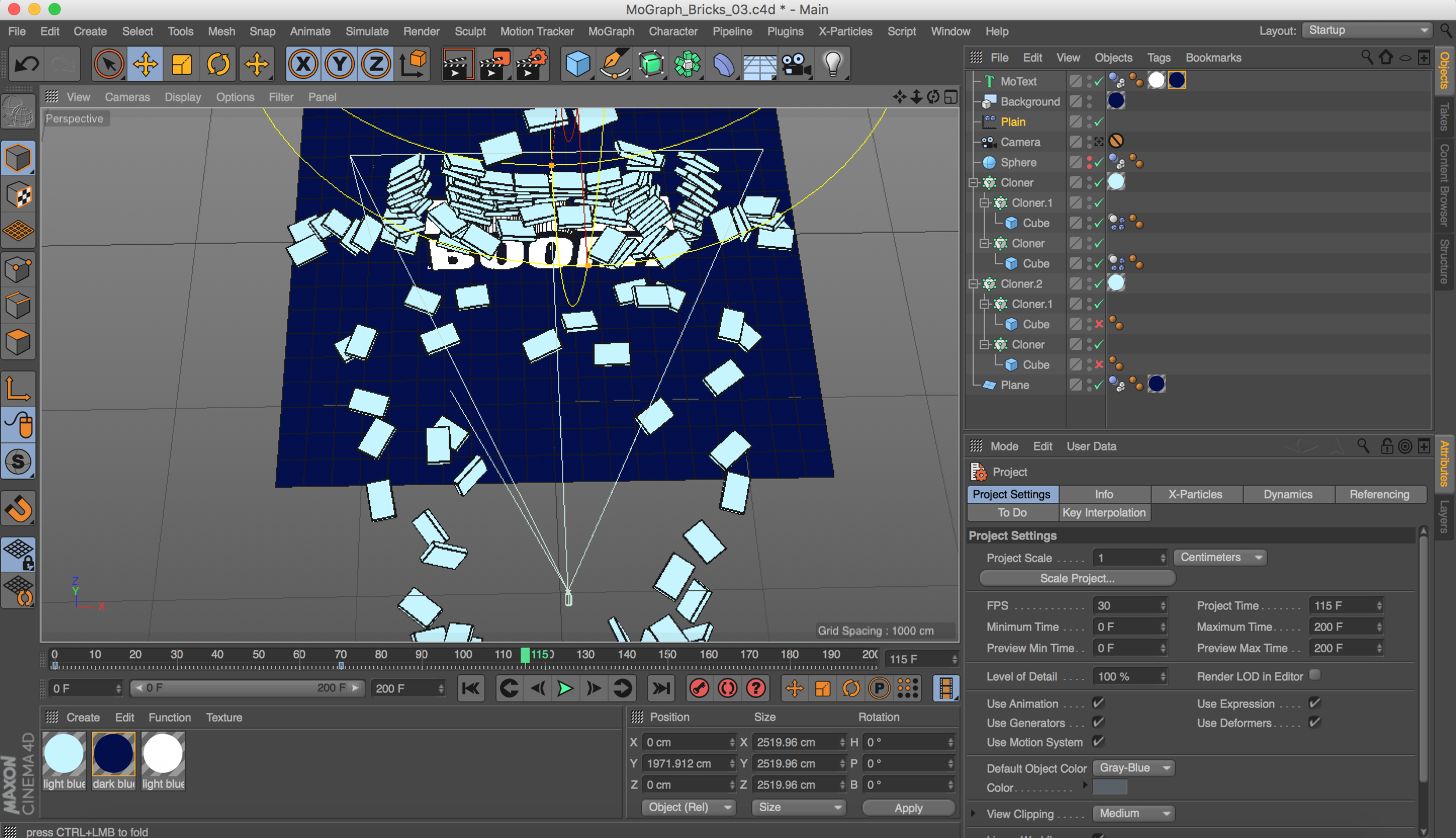 Cinema 4D MoGraph Dynamics Template — Motion Tutorials