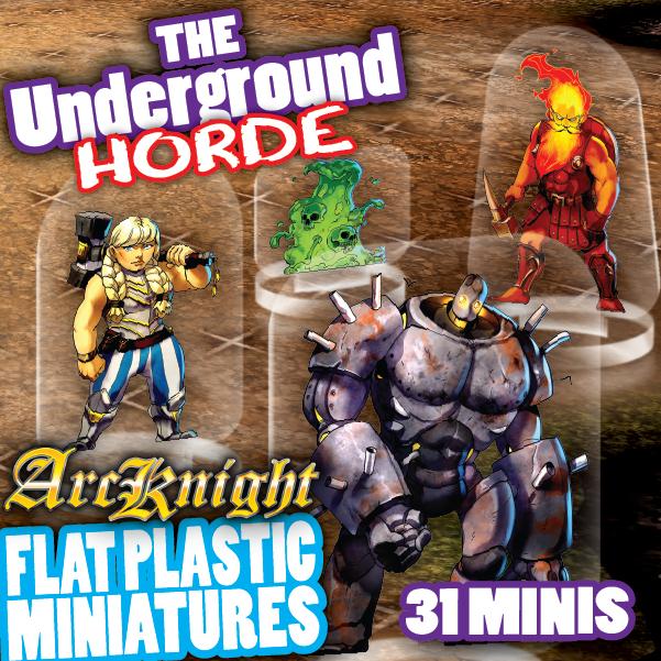 Arcknight Flat Plastic Miniatures Underground Horde