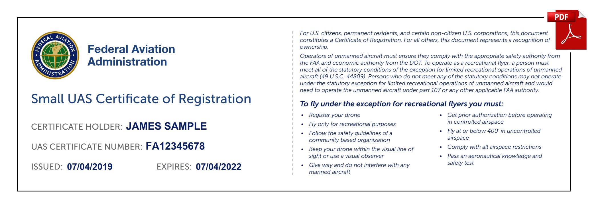 FAA Recreational Drone Registration Renewal - DroneRegistration com