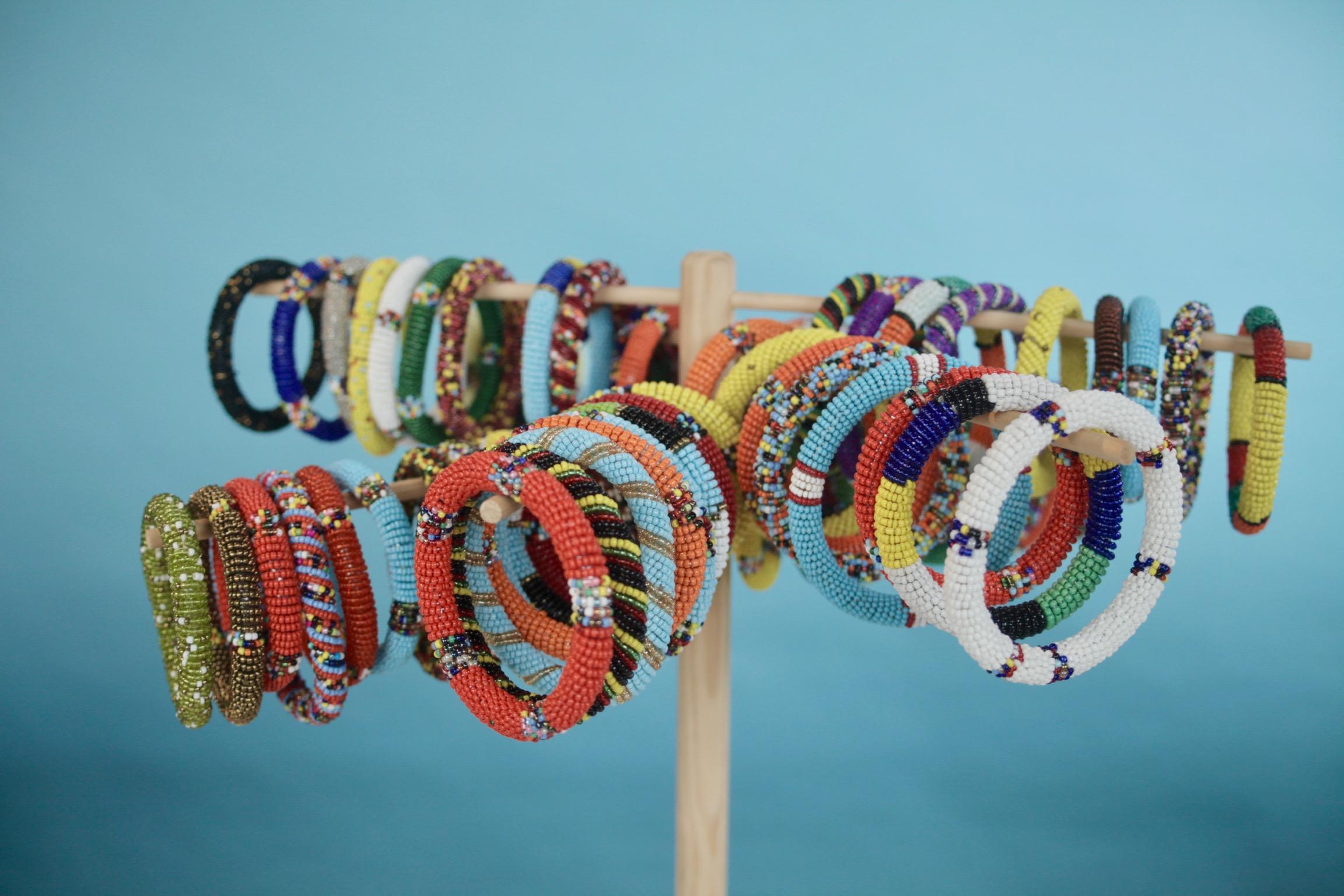 f83cc3ac8fb The Samburu Project — Beaded Bangle Bracelets