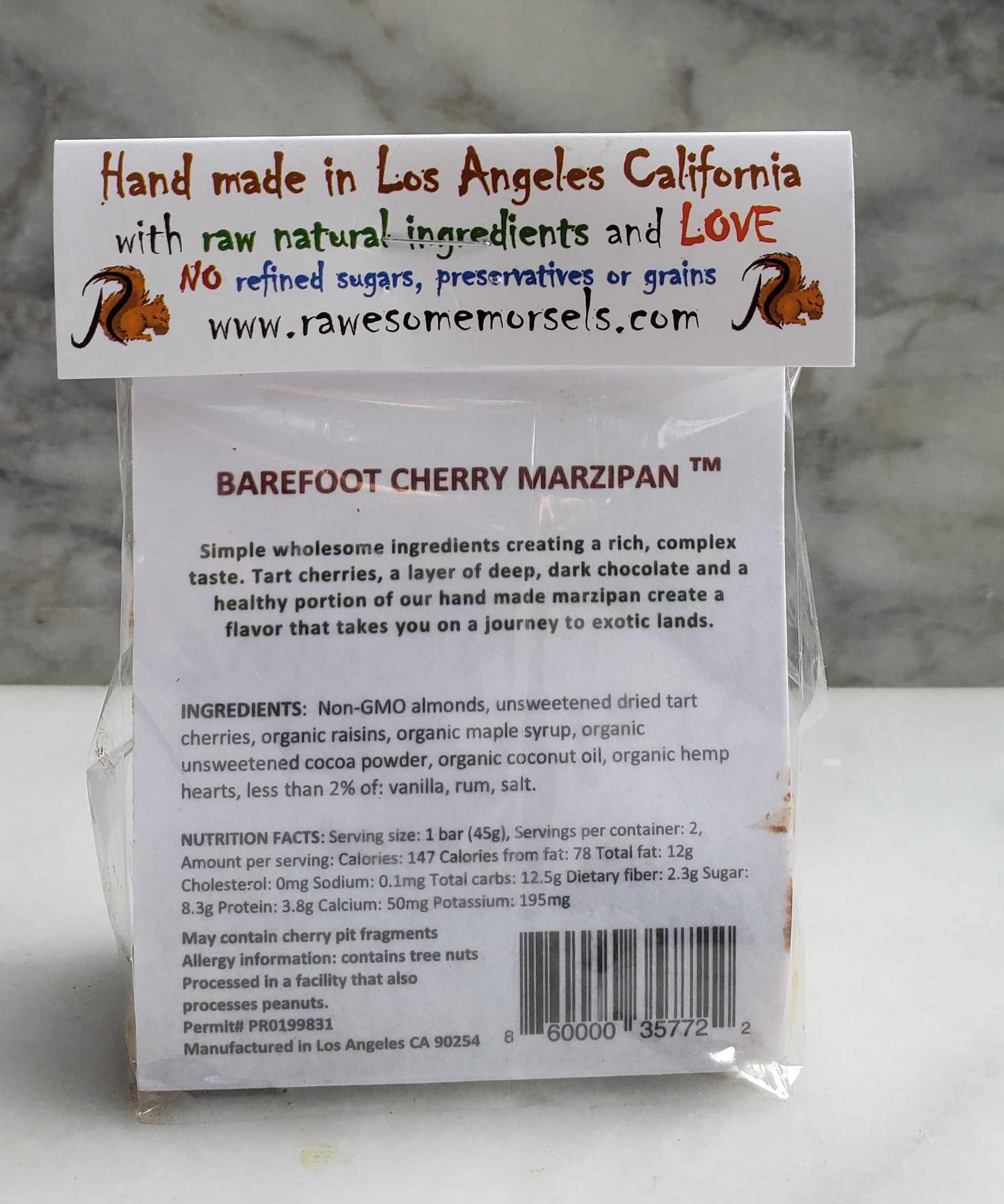 Barefoot Cherry Marzipan — Rawesome Morsels