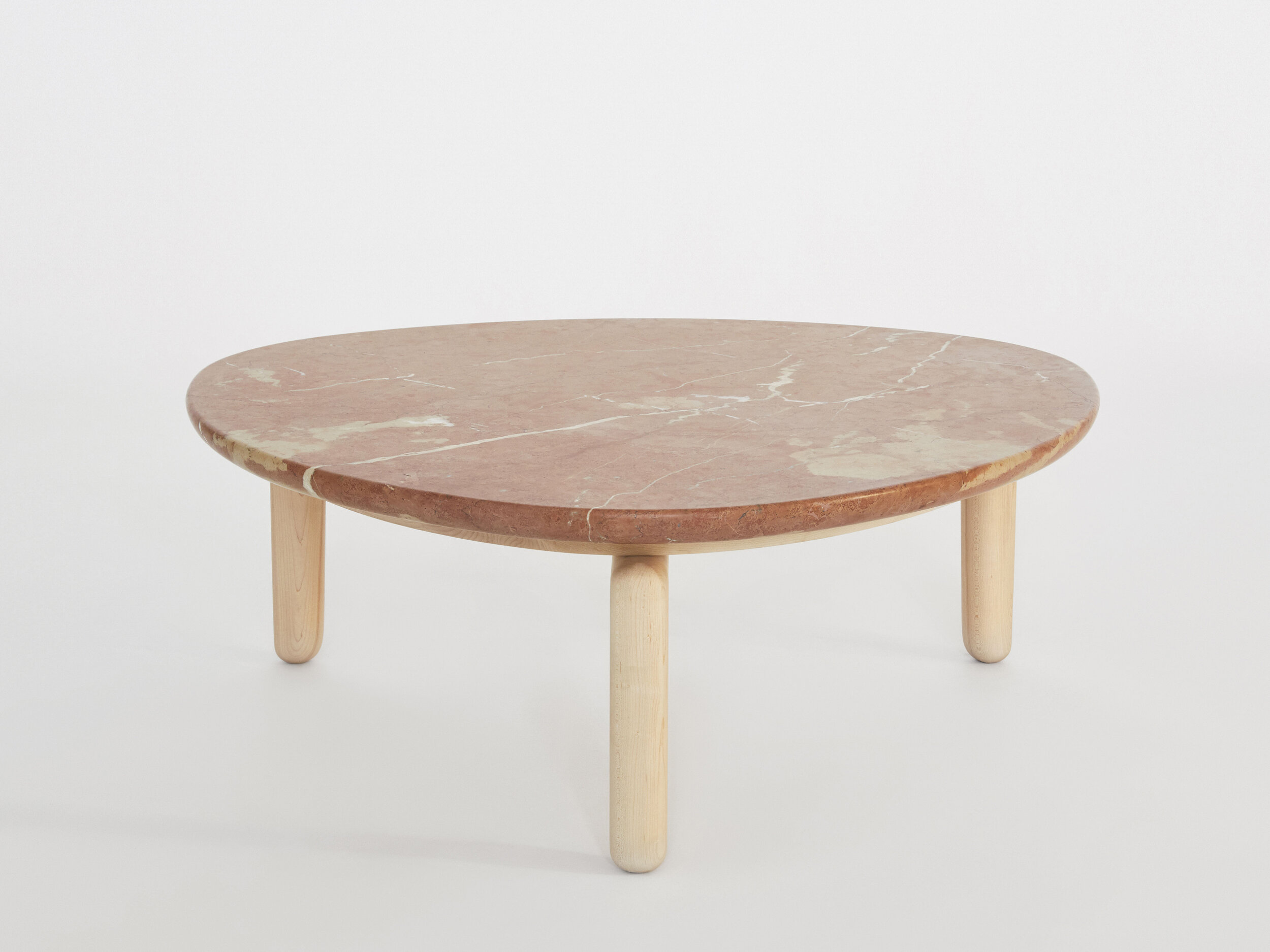 Pillar Coffee Table W Stone Top Radnor