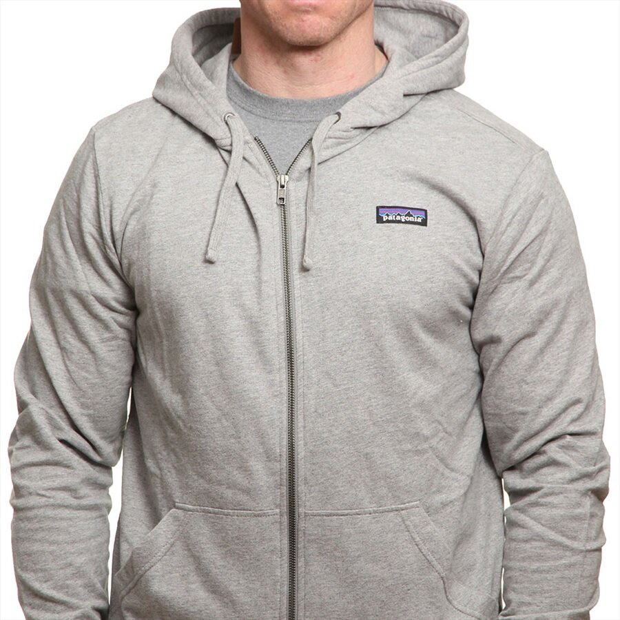 Patagonia Men/'s P-6 Label Light Weight Full-Zip Hoody