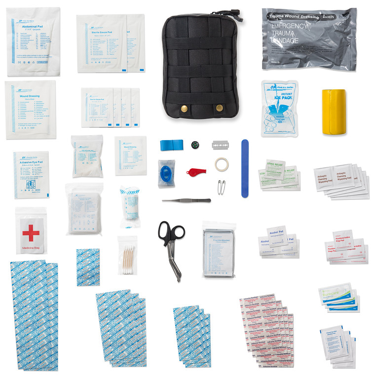 Tactical First Aid Kit - IFAK - Survival Trauma Medical Kit with Israeli  Bandage and Splint - Military, Wilderness, Emergency, Home, Car, Truck -