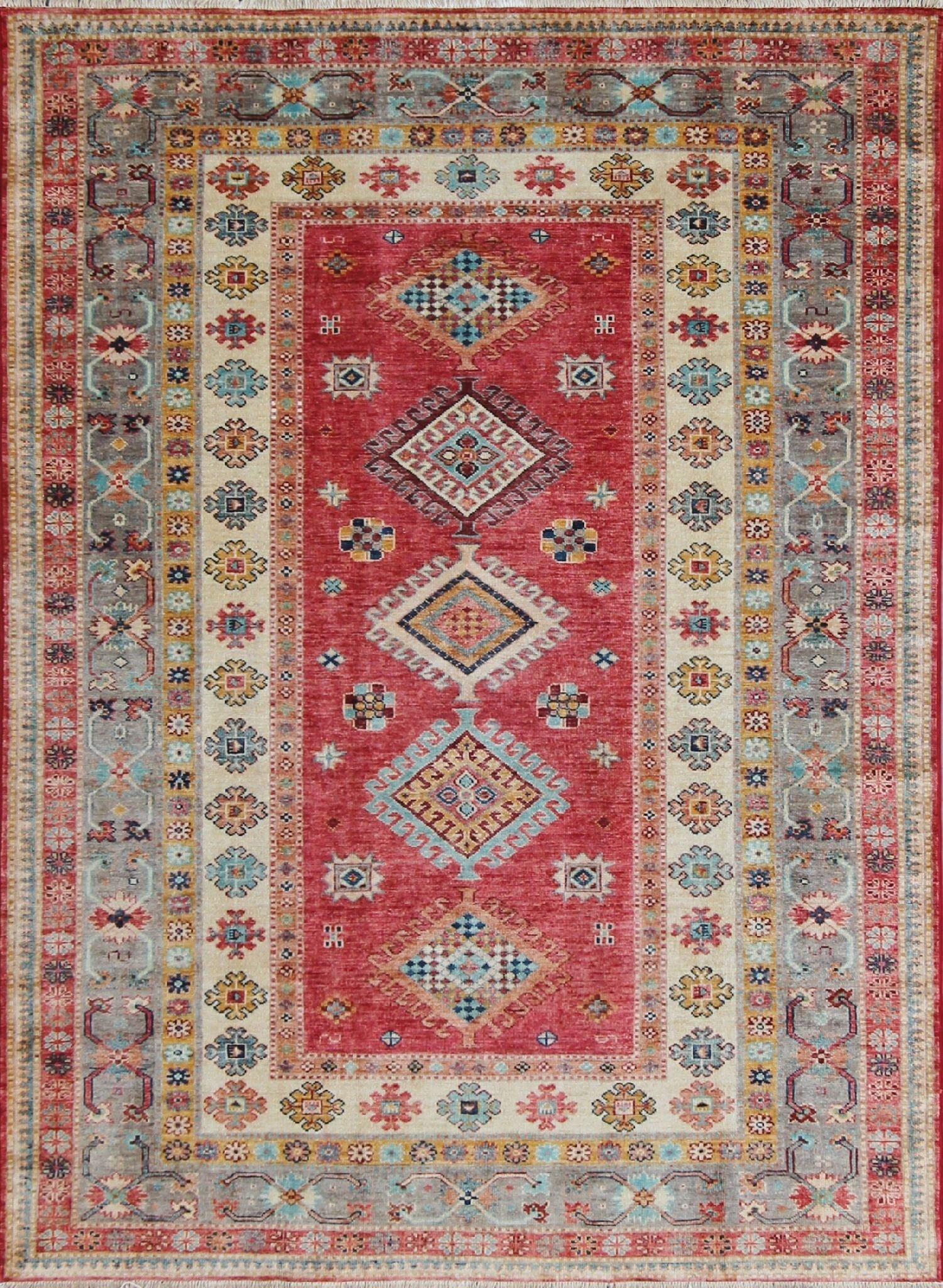Afghan Kazak Rug 2 05m X 1 50m