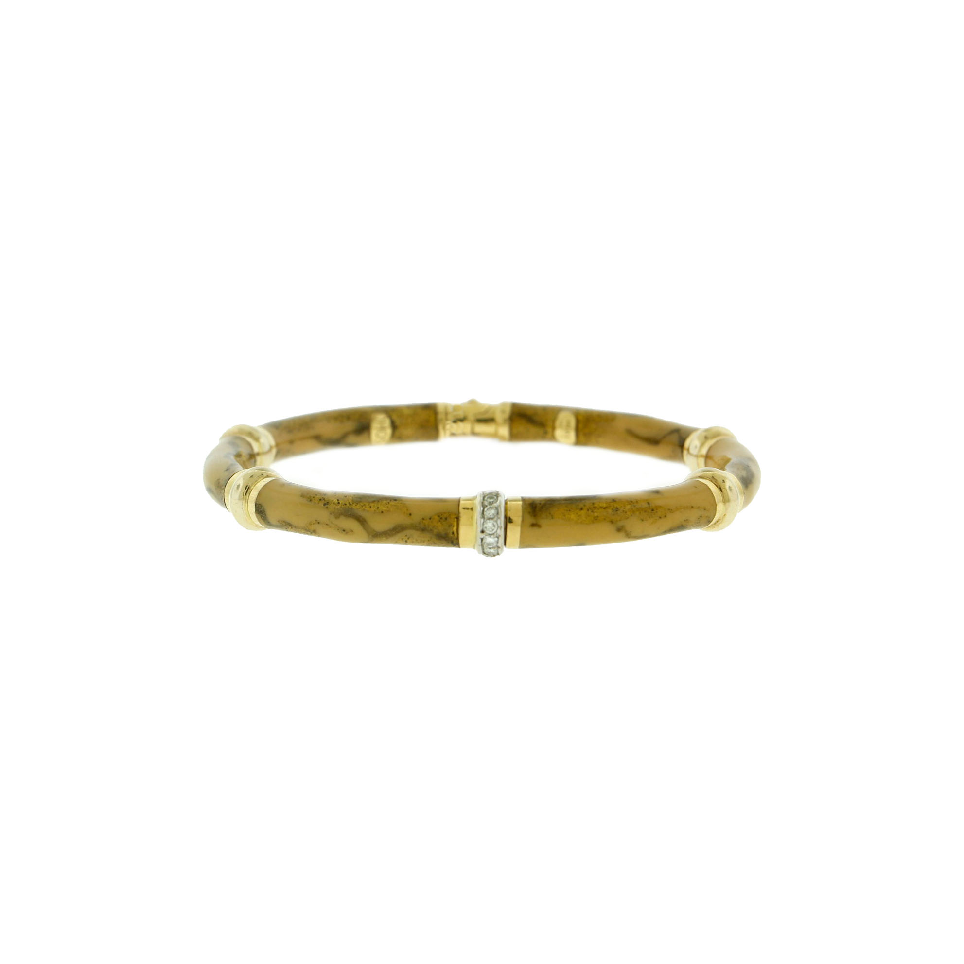 SOHO Enamel Bracelet 18k Yellow — Huffords Jewelry