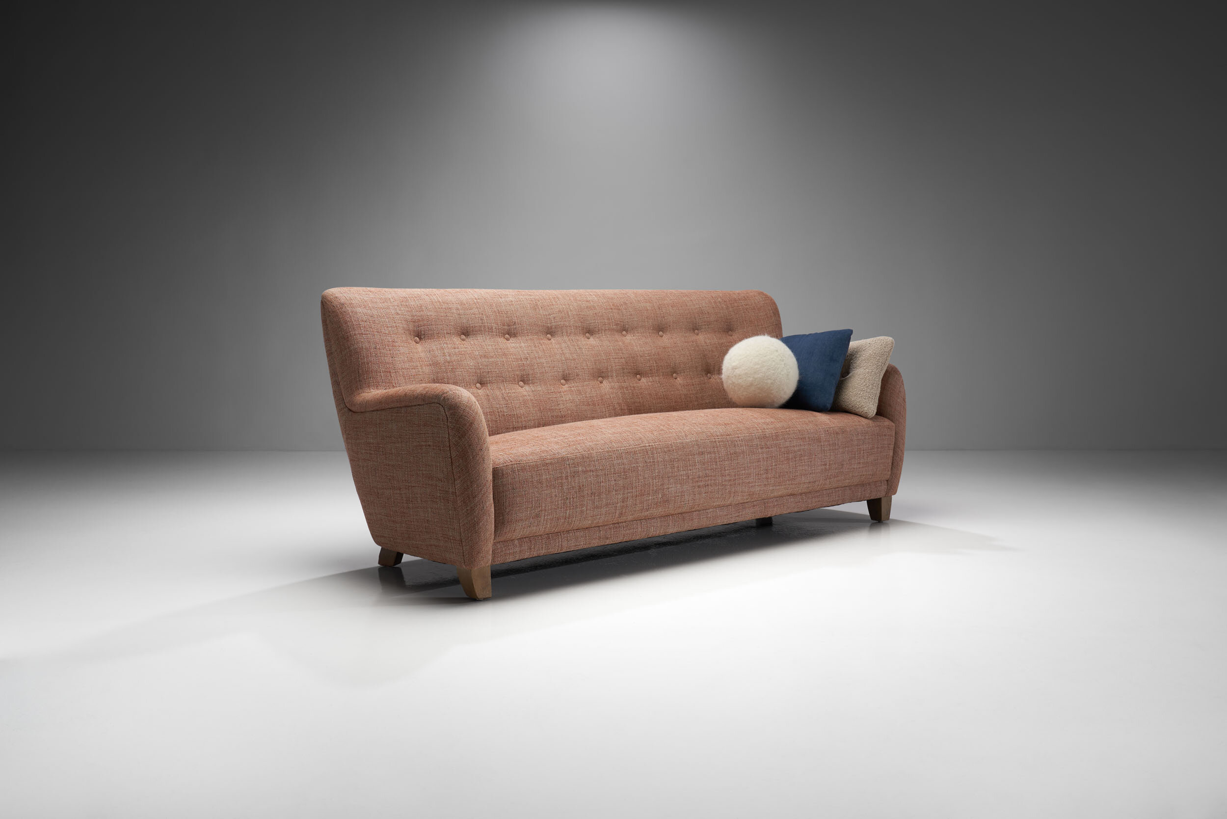 Danish Cabinetmaker Three Seater Sofa