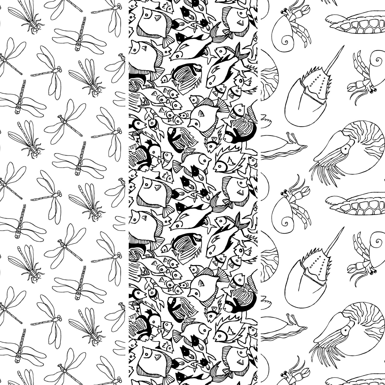 - Water Creatures DIY Paper Ornaments: Color-It-In-Yourself - Craft
