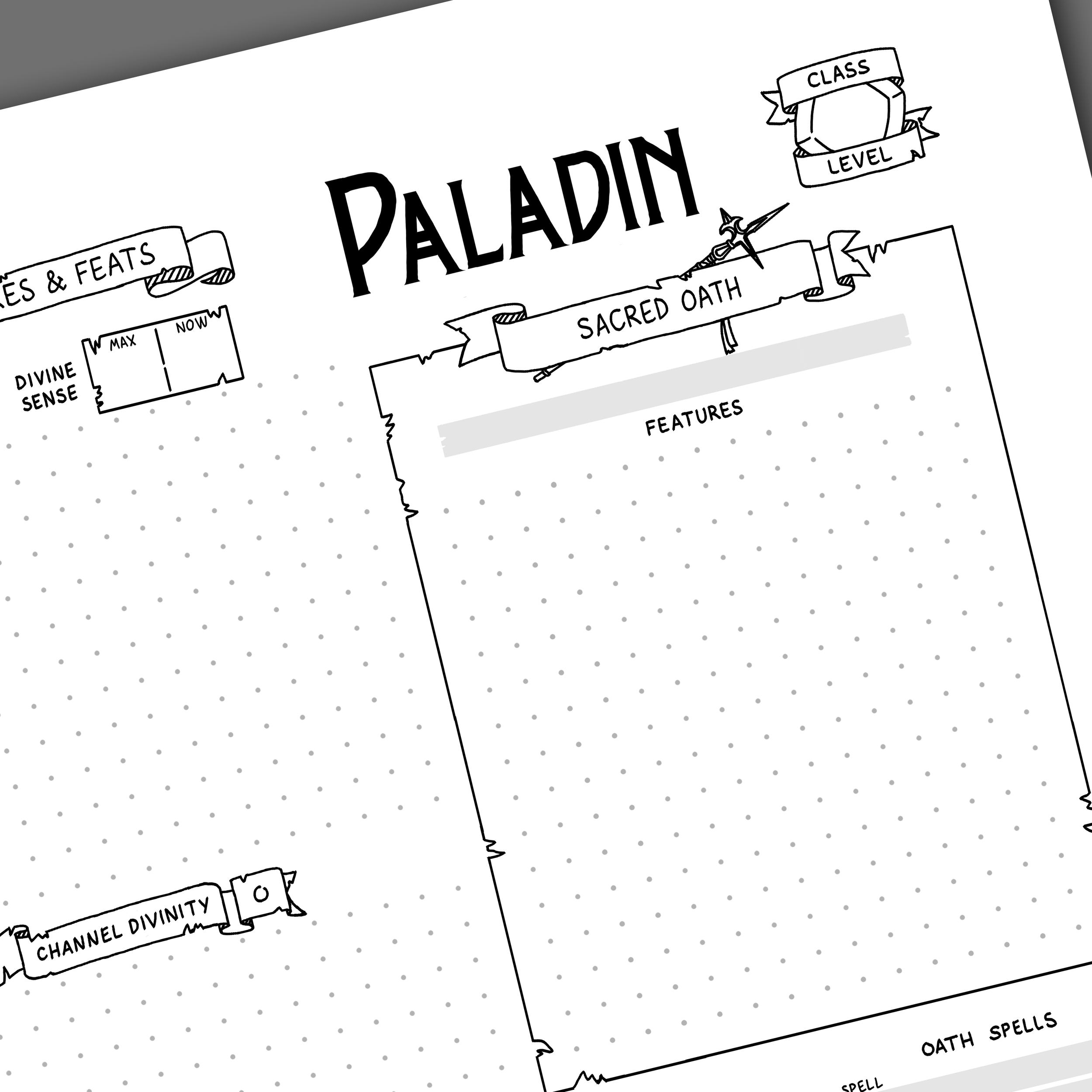 photograph about 5e Character Sheet Printable called 5th Model Paladin Temperament Sheet Video games Things by means of Julien