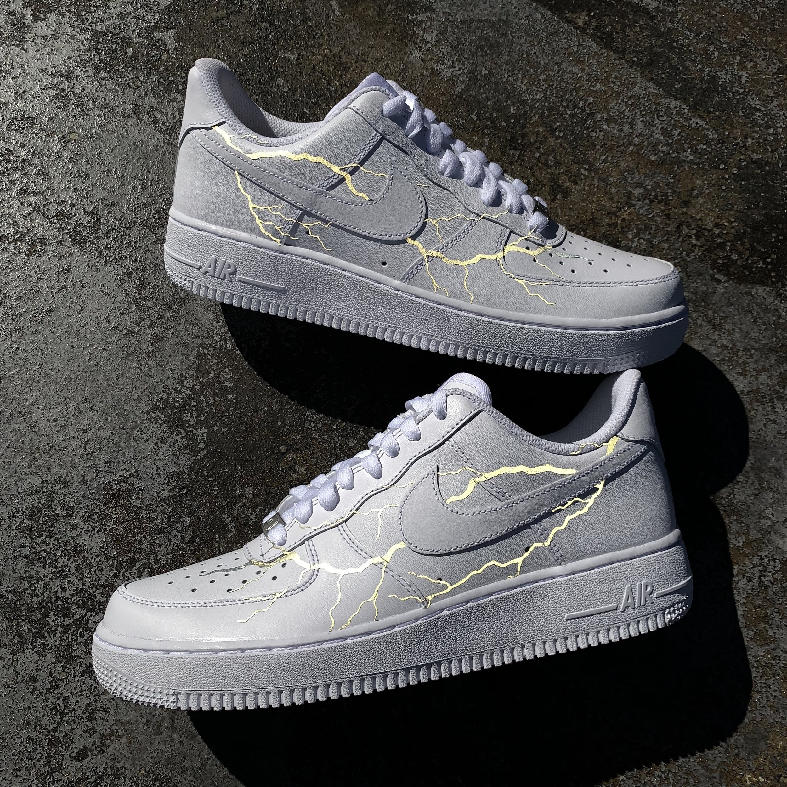 air force 1 noir custom