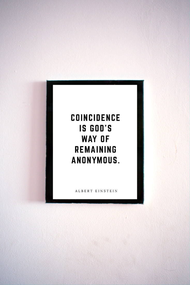 image about Black and White Printable Art called Coincidence 5x7\