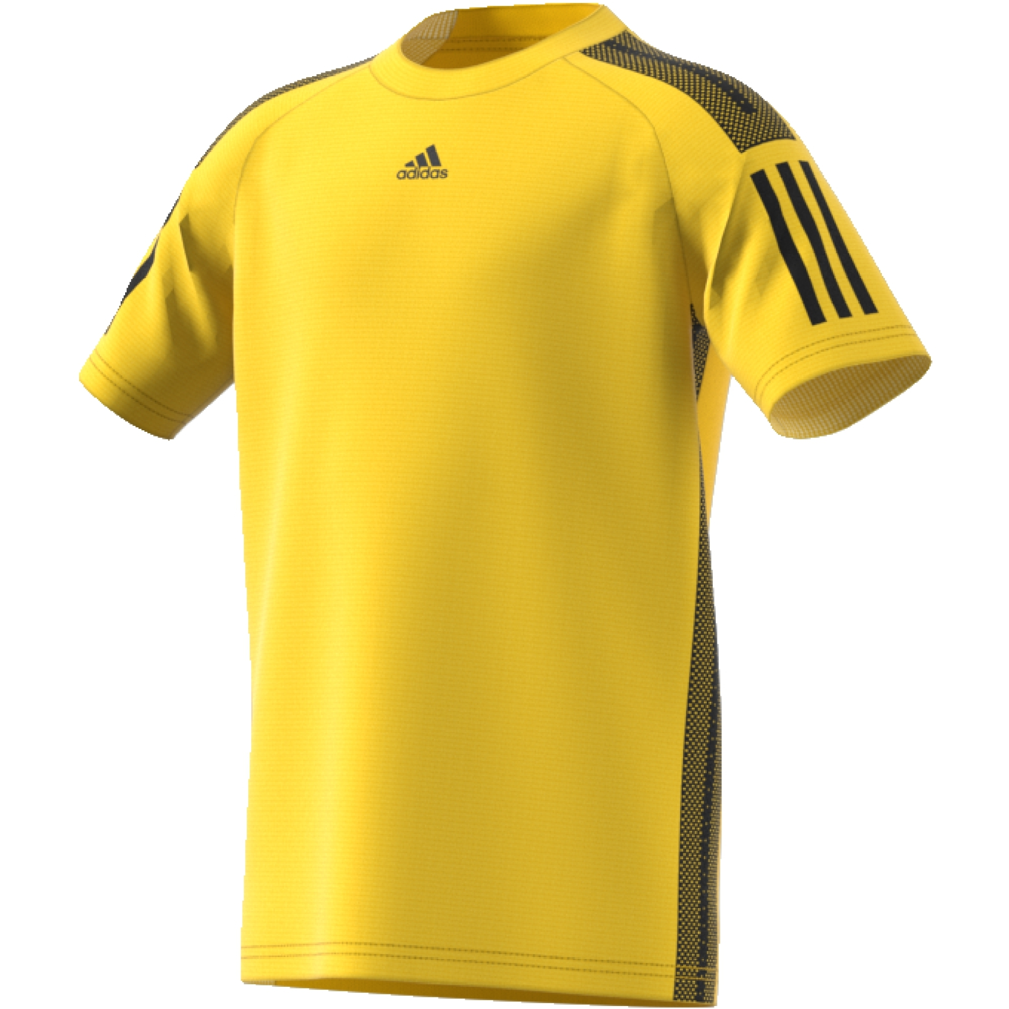 black and yellow adidas shirt