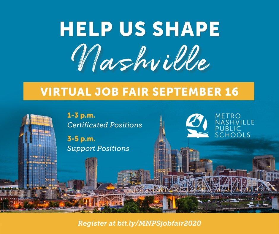 MNPS Hosting Virtual Job Fair Sept. 16