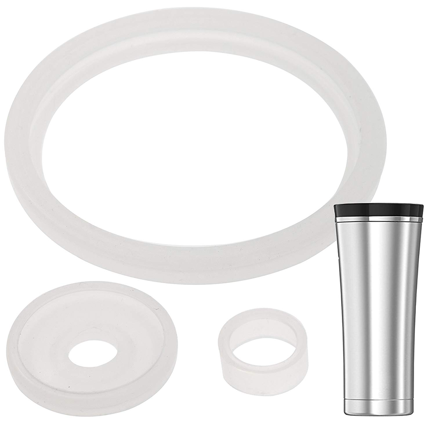 2 Sets of Thermos Sipp (TM) -Compatible 16 Ounce Travel Tumbler/Mug  Gaskets/Seals