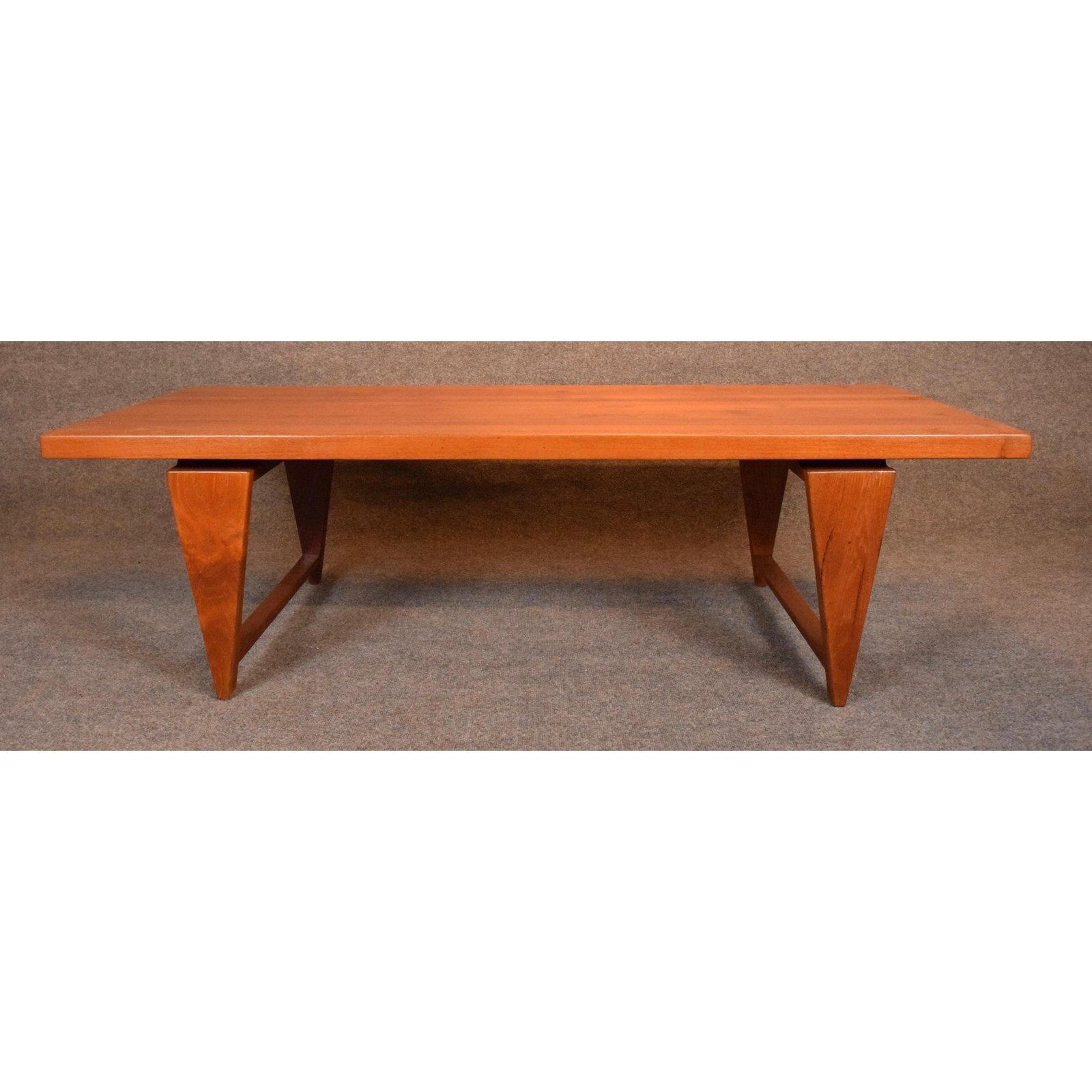 Vintage Danish Mid Century Modern Teak Coffee Table By Illum