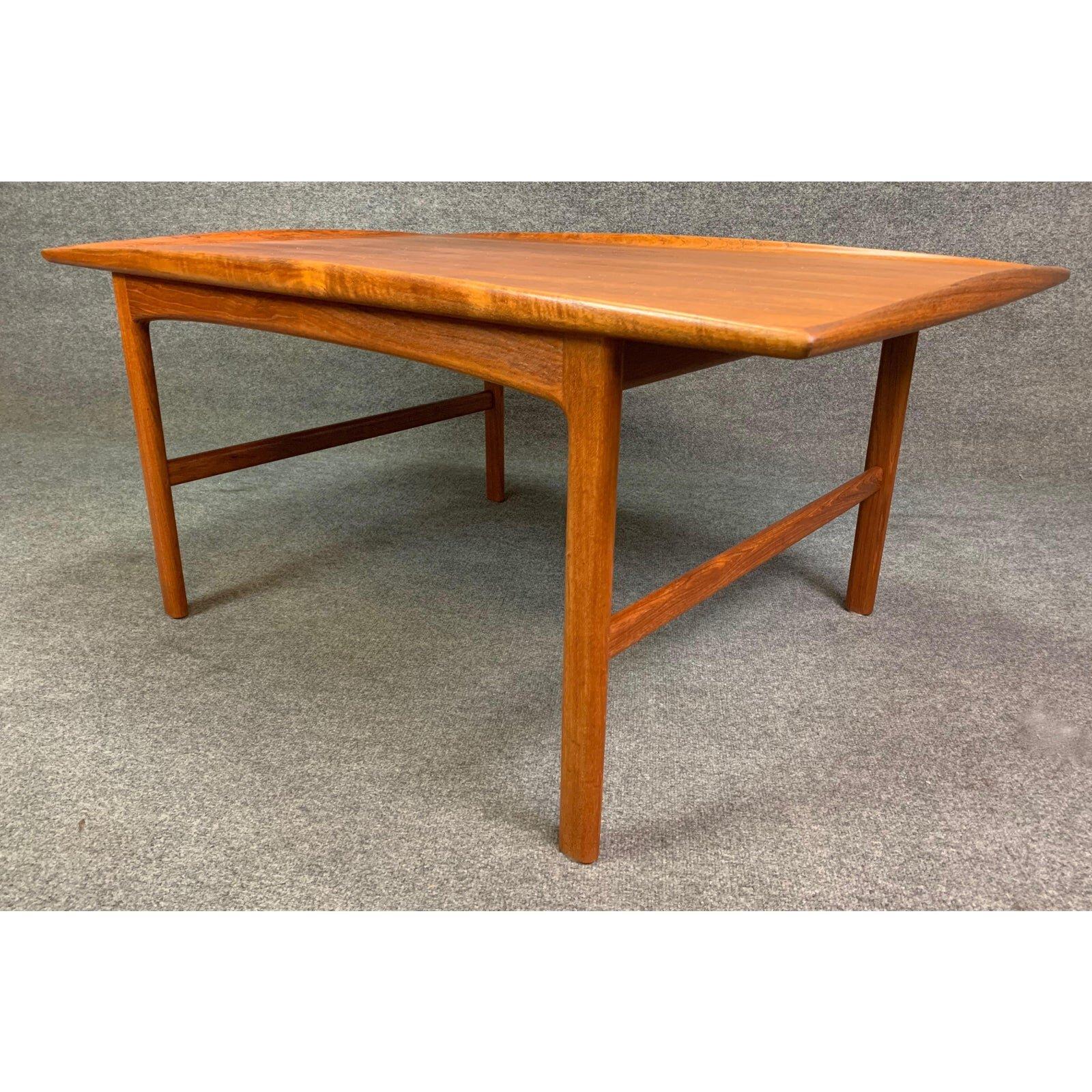 Vintage Scandinavian Mid Century Modern Teak Frisco Coffee Table