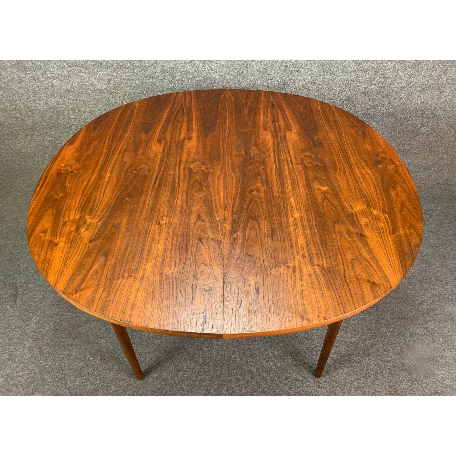 Vintage Mid Century Modern Walnut Declaration Dining Table By Drexel Aymerick