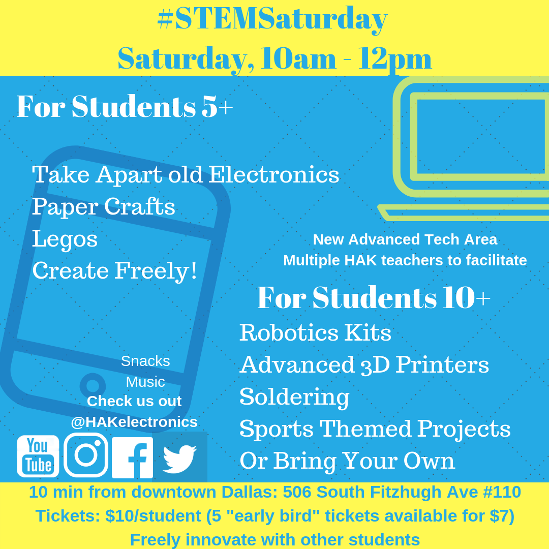 9/21: STEM Saturday — HAK Electronics