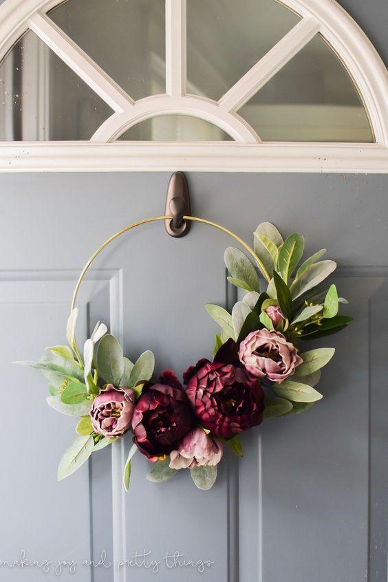Modern Summer Wreath Mint Studio