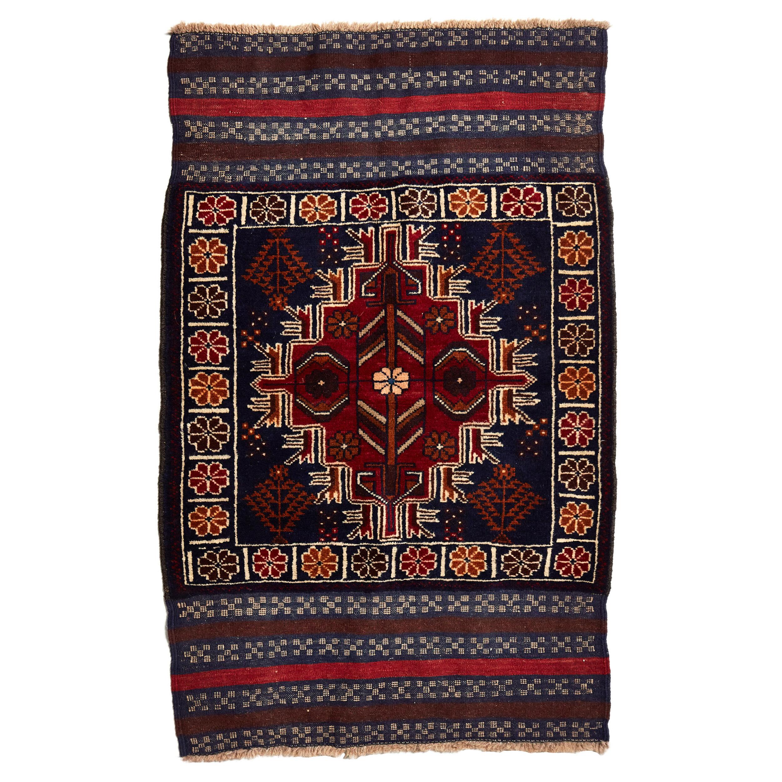 Baluchi Tribal Afghan Rugs Orange Rug