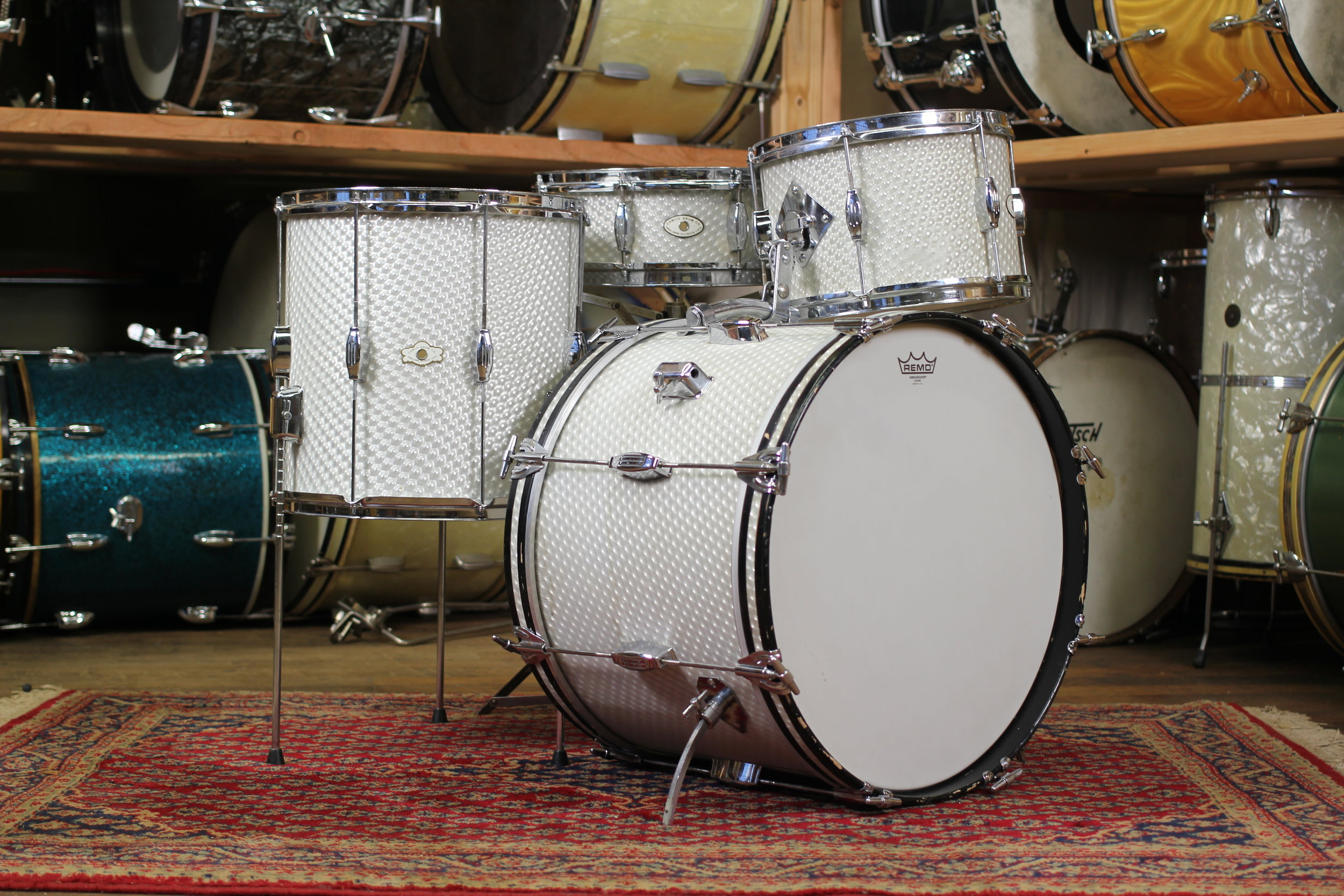 1960 S Camco Tuxedo In 3d Moire 14x20 14x14 8x12 5x14 Wood Weather Drum Shop