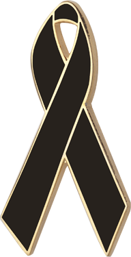 Black Awareness Ribbons | Lapel Pins