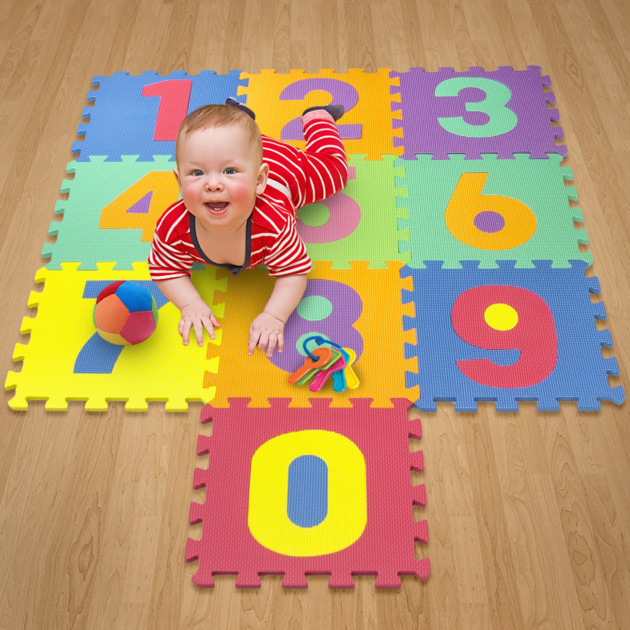 Matney Foam Mat Of Number Puzzle Pieces Great For Kids To Learn