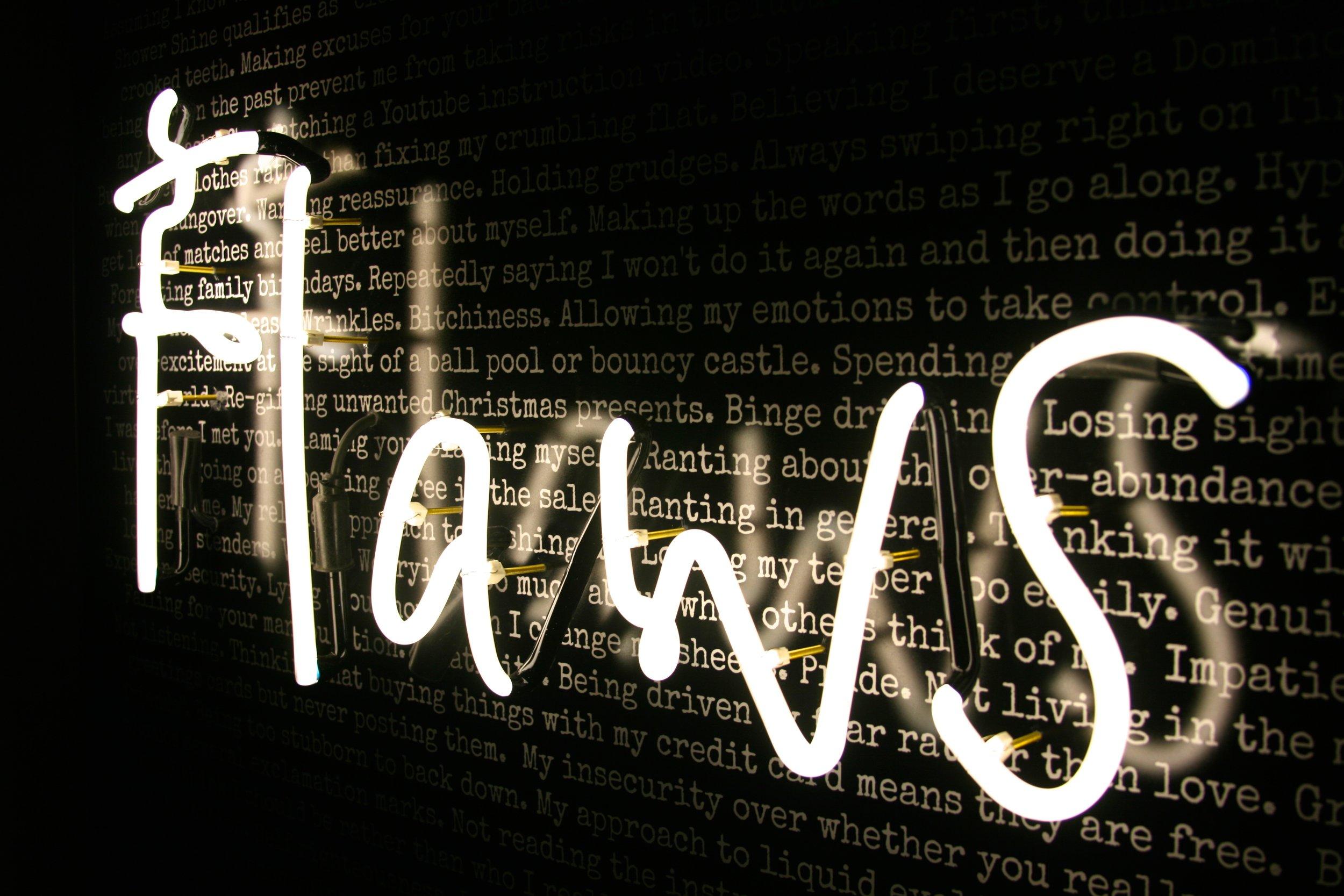 Neon light - Take Me As I Am (flaws) — R E B E C C A // M A S O N