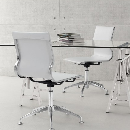 Acme Armless Office Chair White Onemoderndesign Luxe Furniture Home Décor
