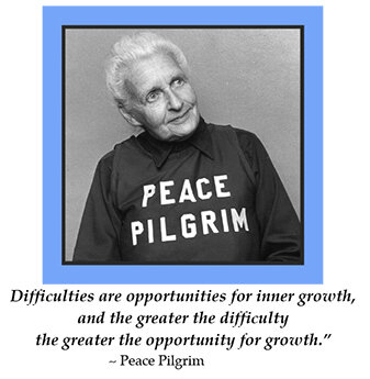 Peace Pilgrim's Advice for Troubled times - July 2020: As we collectively navigate the current global pandemic and recent civil unrest around issues of racial inequity and injustice, we may wonder how Peace Pilgrim would have responded to the challenges of the 21st century.
