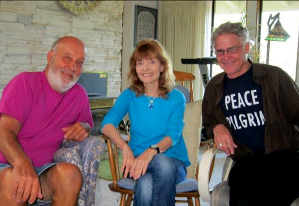 Three of the five compilers of the Peace Pilgrim book, from left, Andy Zupko, Cheryl Canfield and Richard Polese.