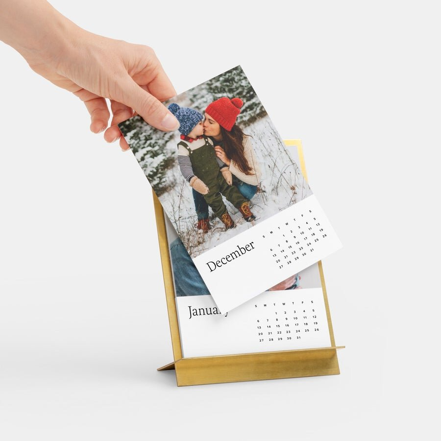 黄铜Easel Photo Calendar