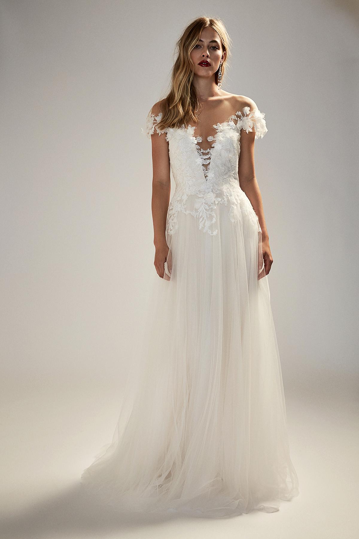 Emeline Uk10 12 Unique Boho Vintage Designer Wedding Dresses Bridal Accessories Bridal Boutique Singapore