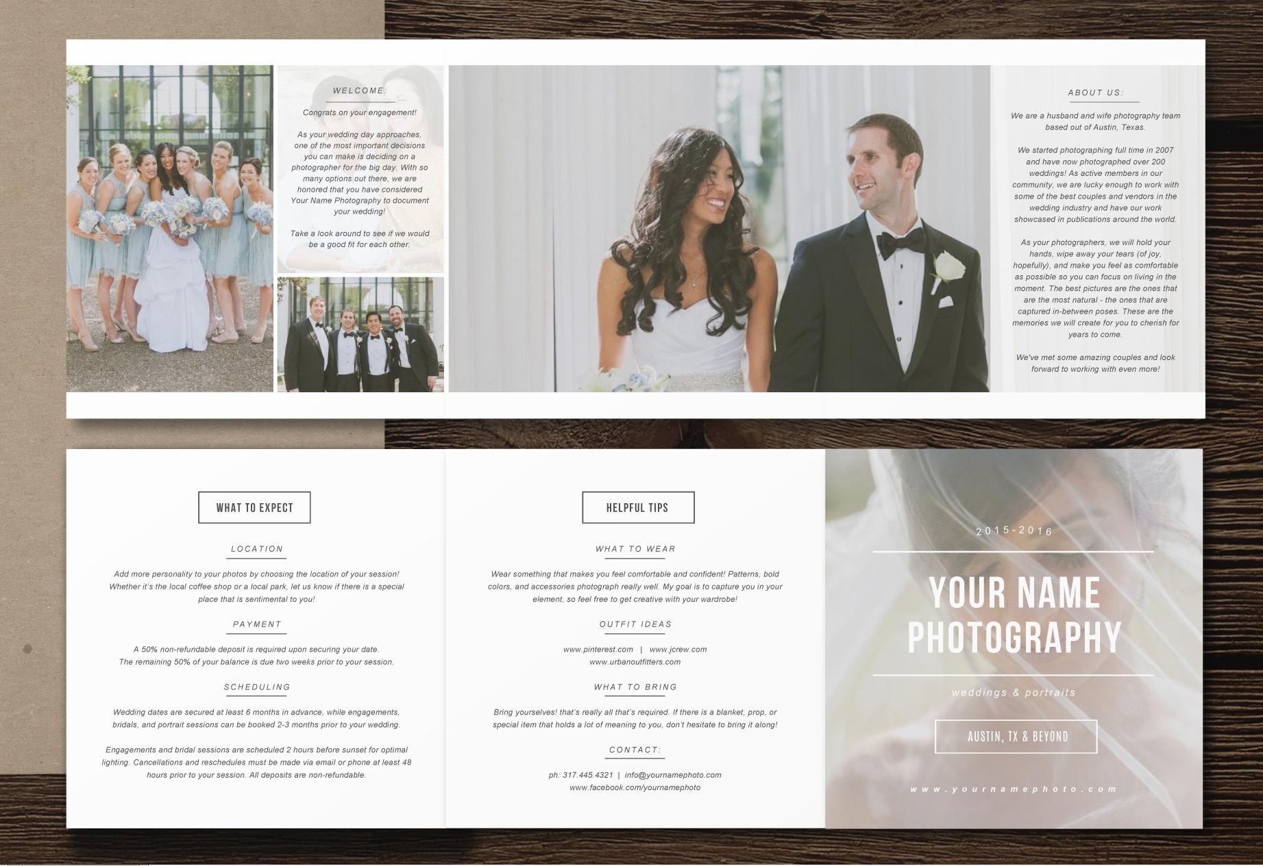 Wedding Photographer Marketing Set Minimal