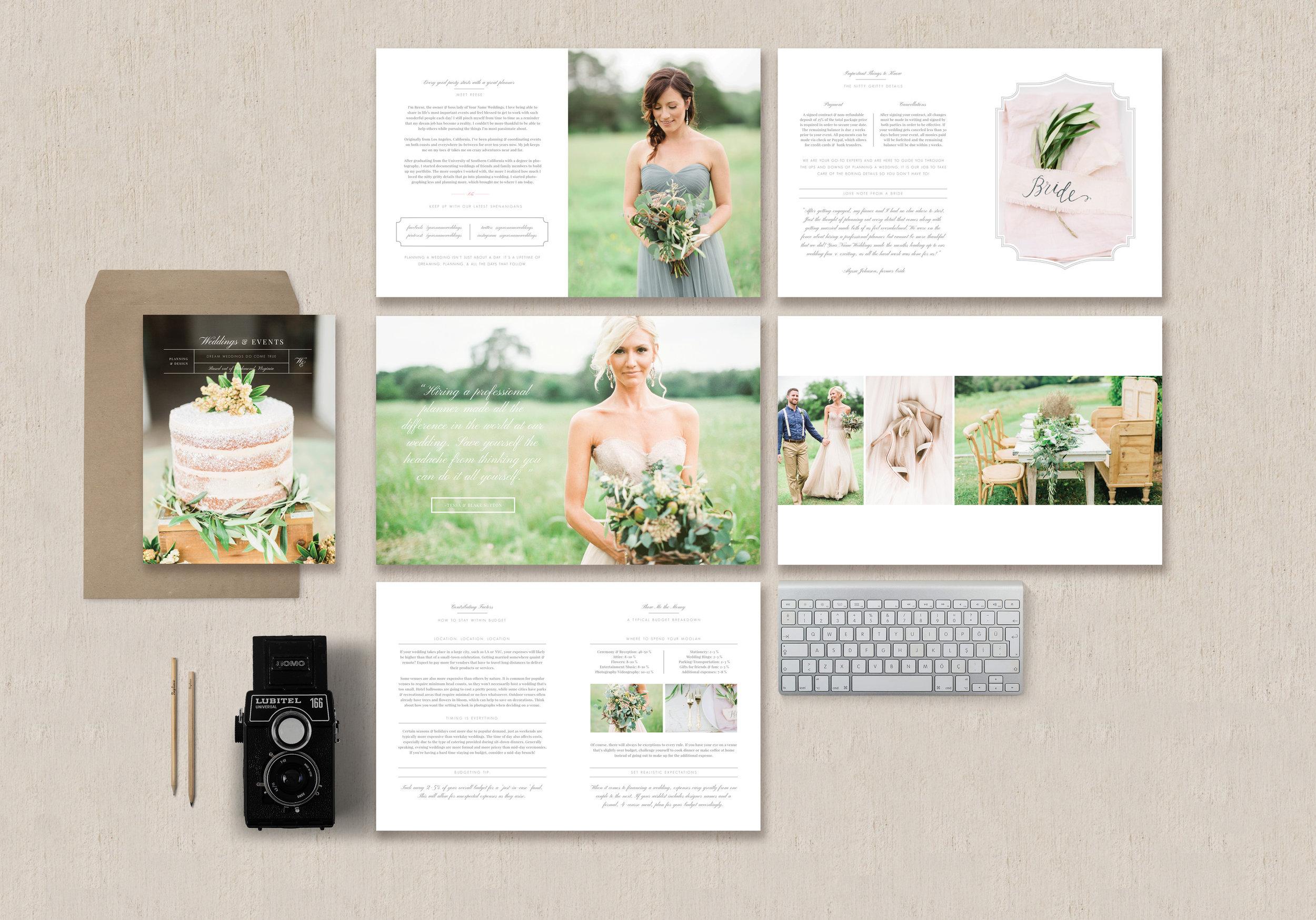 Magazine Template for Wedding Planners & Event Designers - Eucalyptus