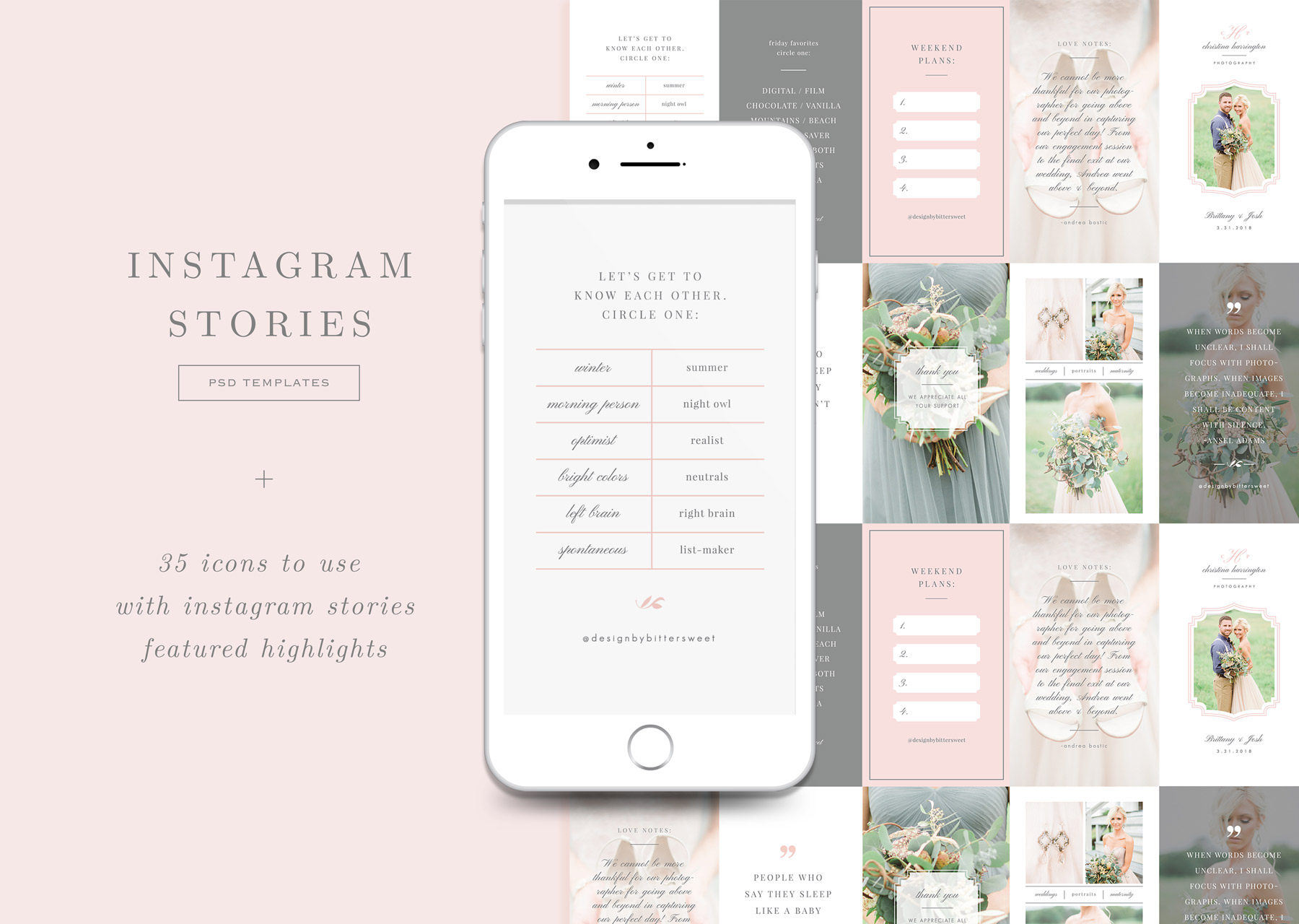 Instagram Stories Templates + Icons for IG Highlights - Eucalyptus