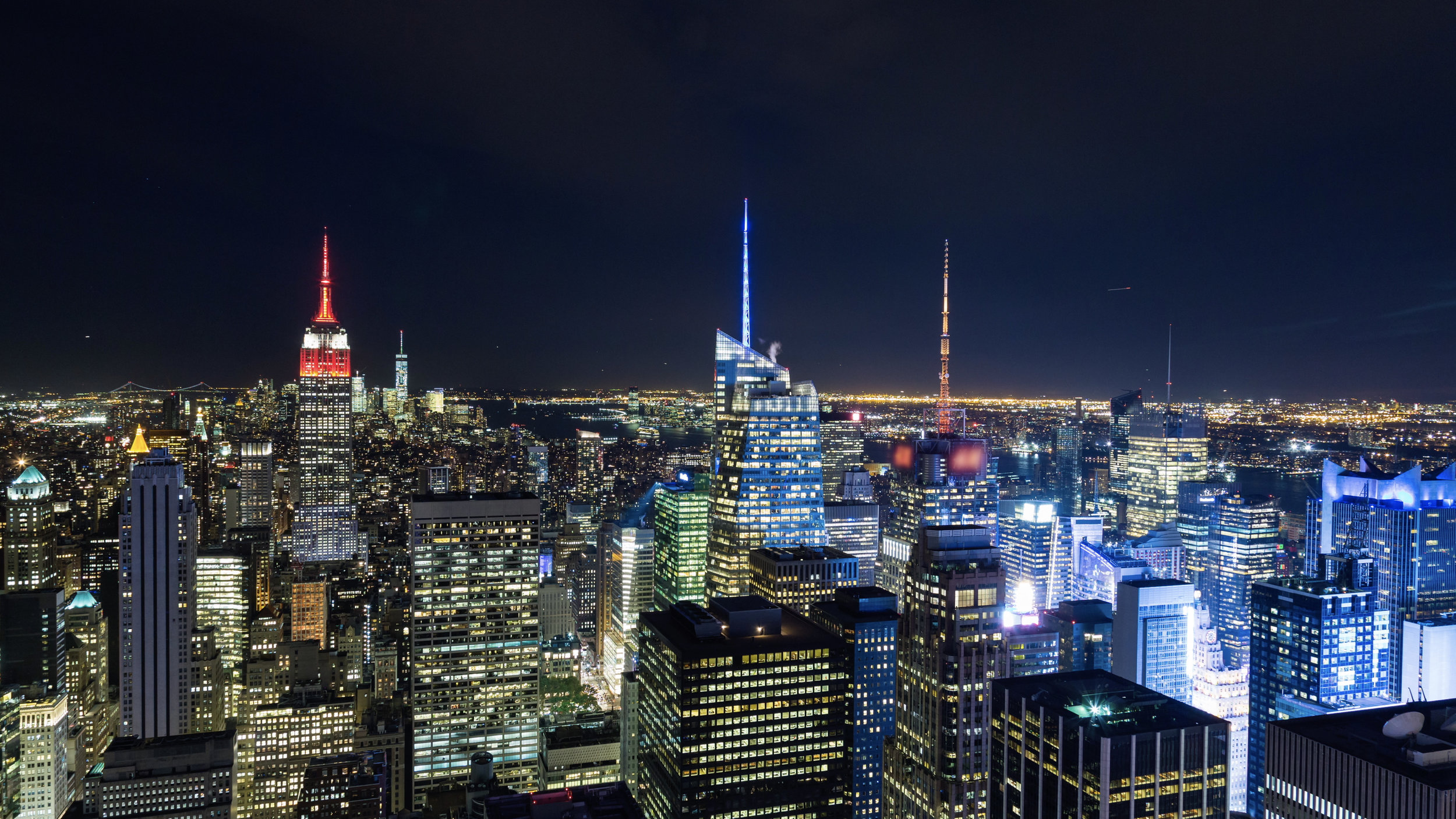 (HD) Empire State Building And Times Square Manhattan, New York City At  Night - Emeric's Timelapse
