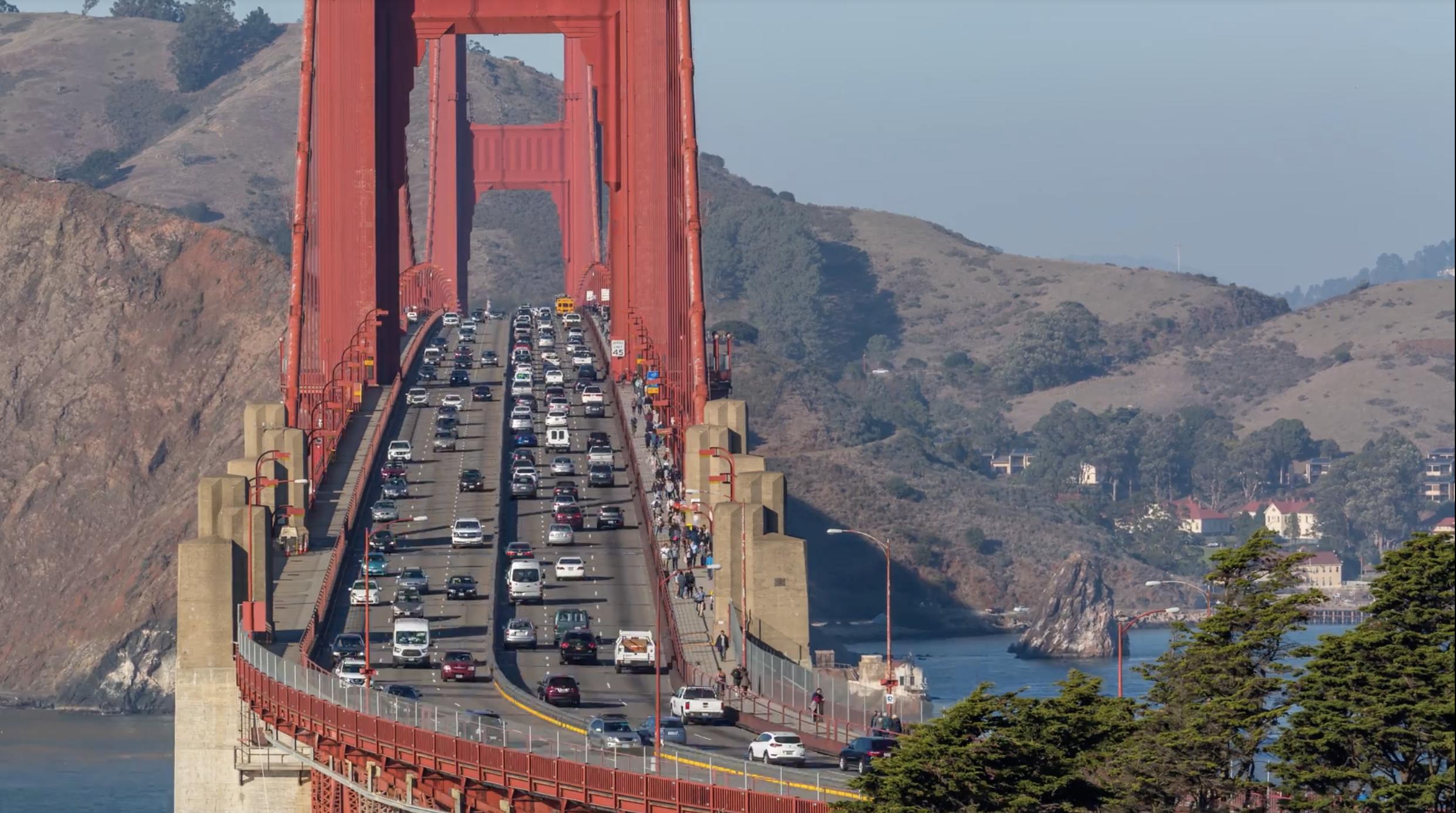 Hd San Francisco Golden Gate Bridge Traffic Emeric S Timelapse