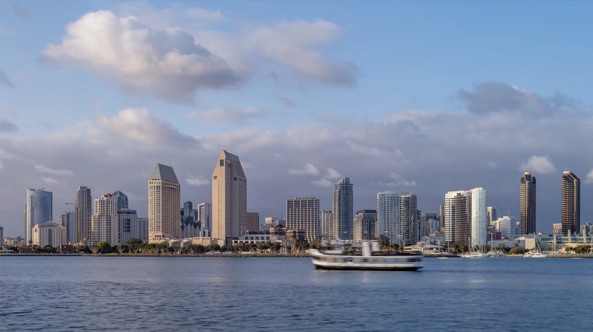 4k Downtown San Diego Skyline With Clouds Emeric S Timelapse