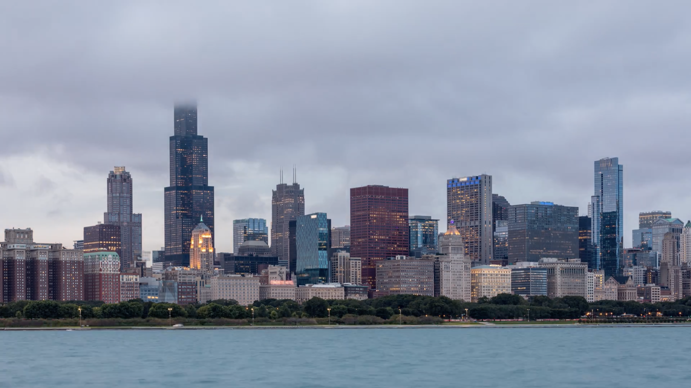 4k Chicago Skyline And Lake Michigan Cloudscape Day To Night Emeric S Timelapse