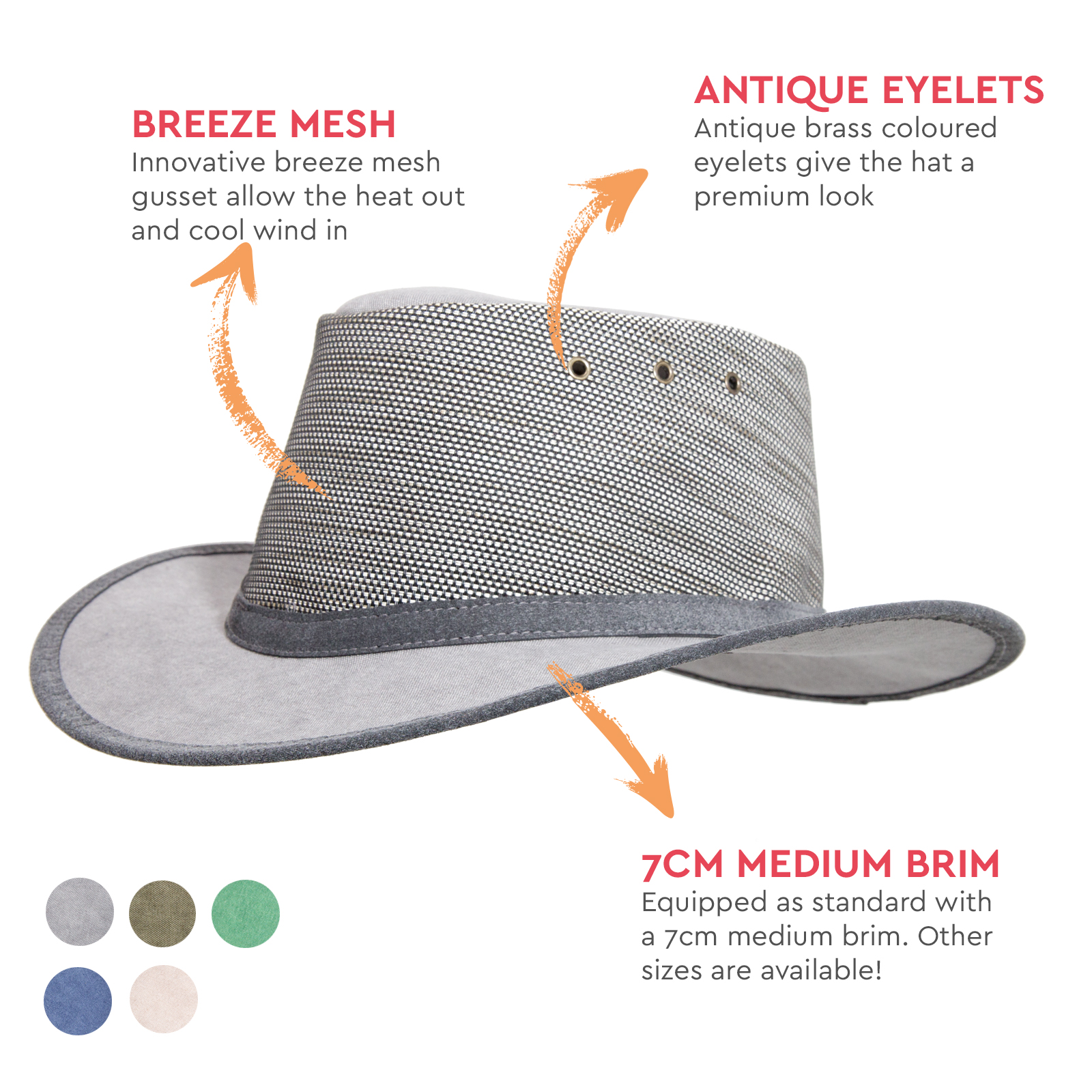Standard Canvas Wide Brim Newcastle Hats Canning Hat