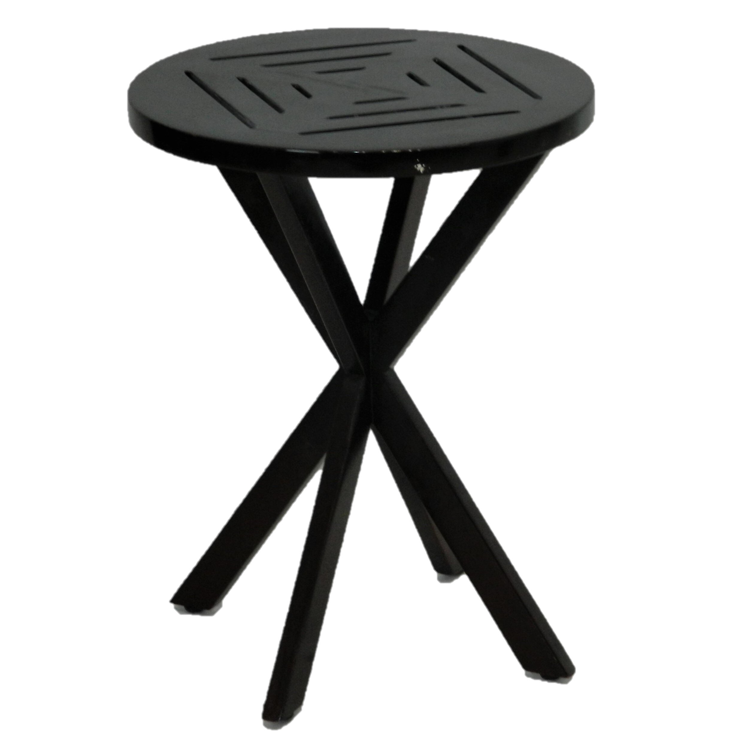 - Round Wood Accent Table — Dulce