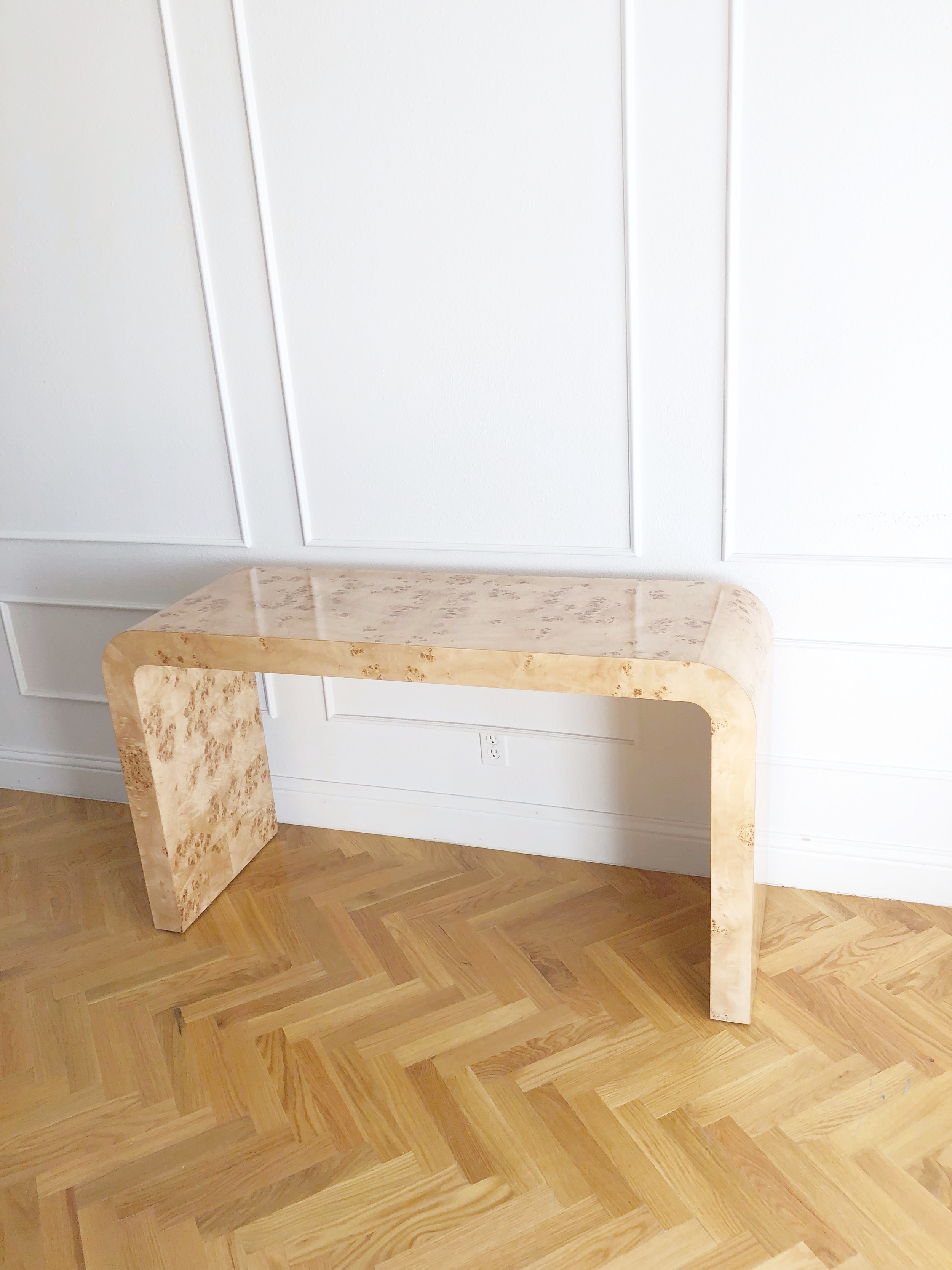 Ceh Label Waterfall Console Table The