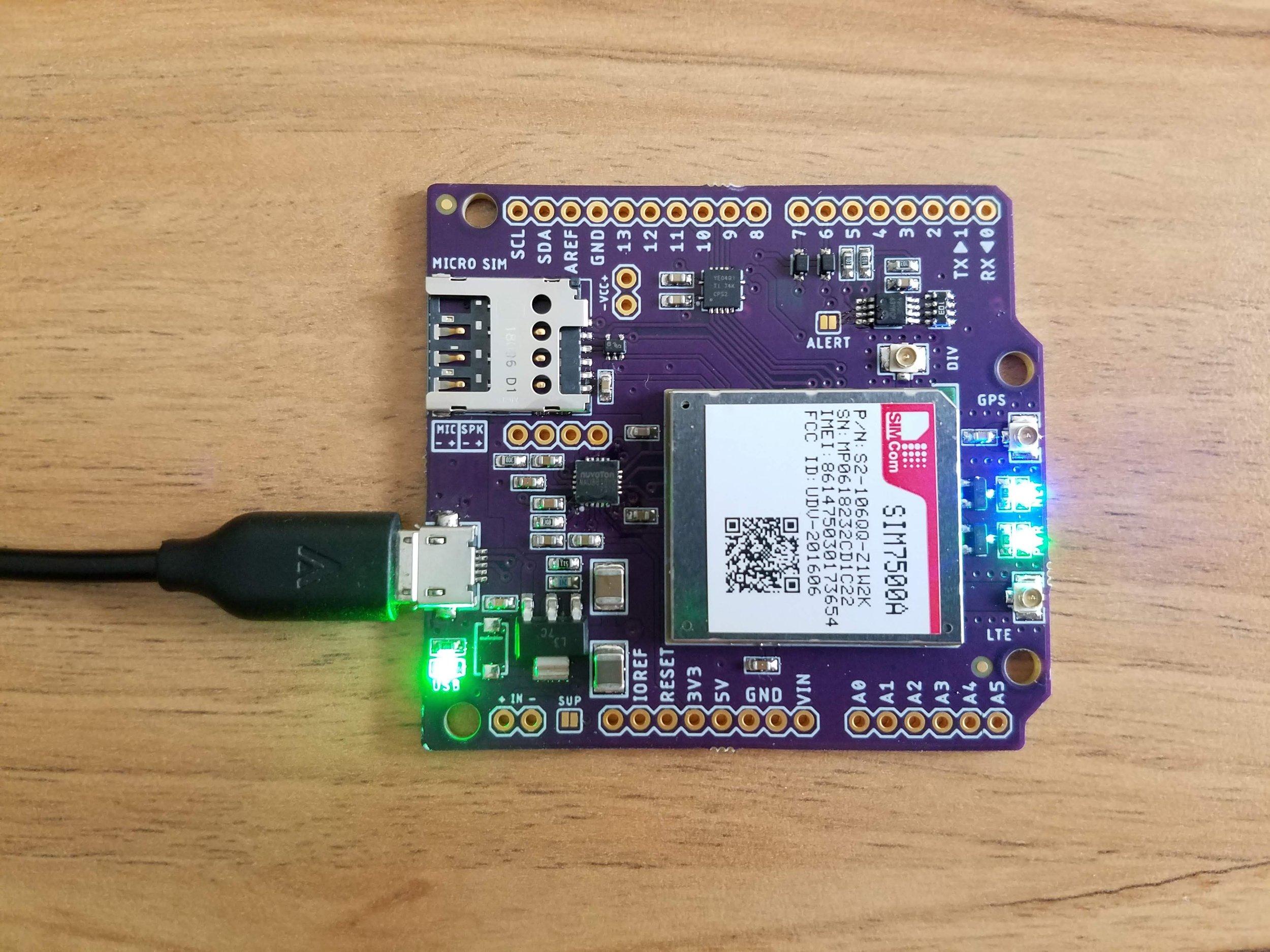 Botletics™ SIM7500 4G LTE + GPS + Voice Shield Kit — Botletics