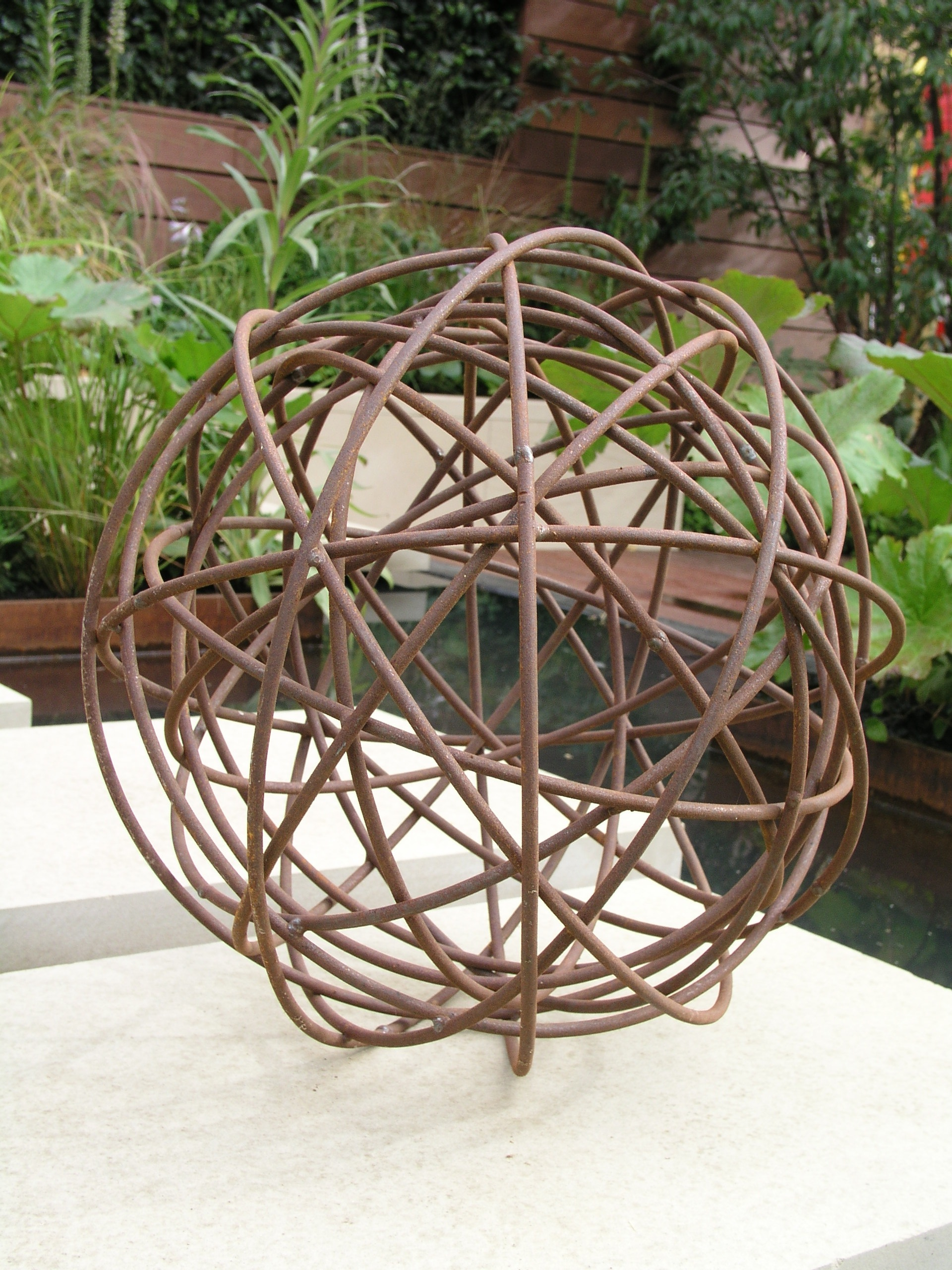 Rusted Garden Sphere Made By Moore