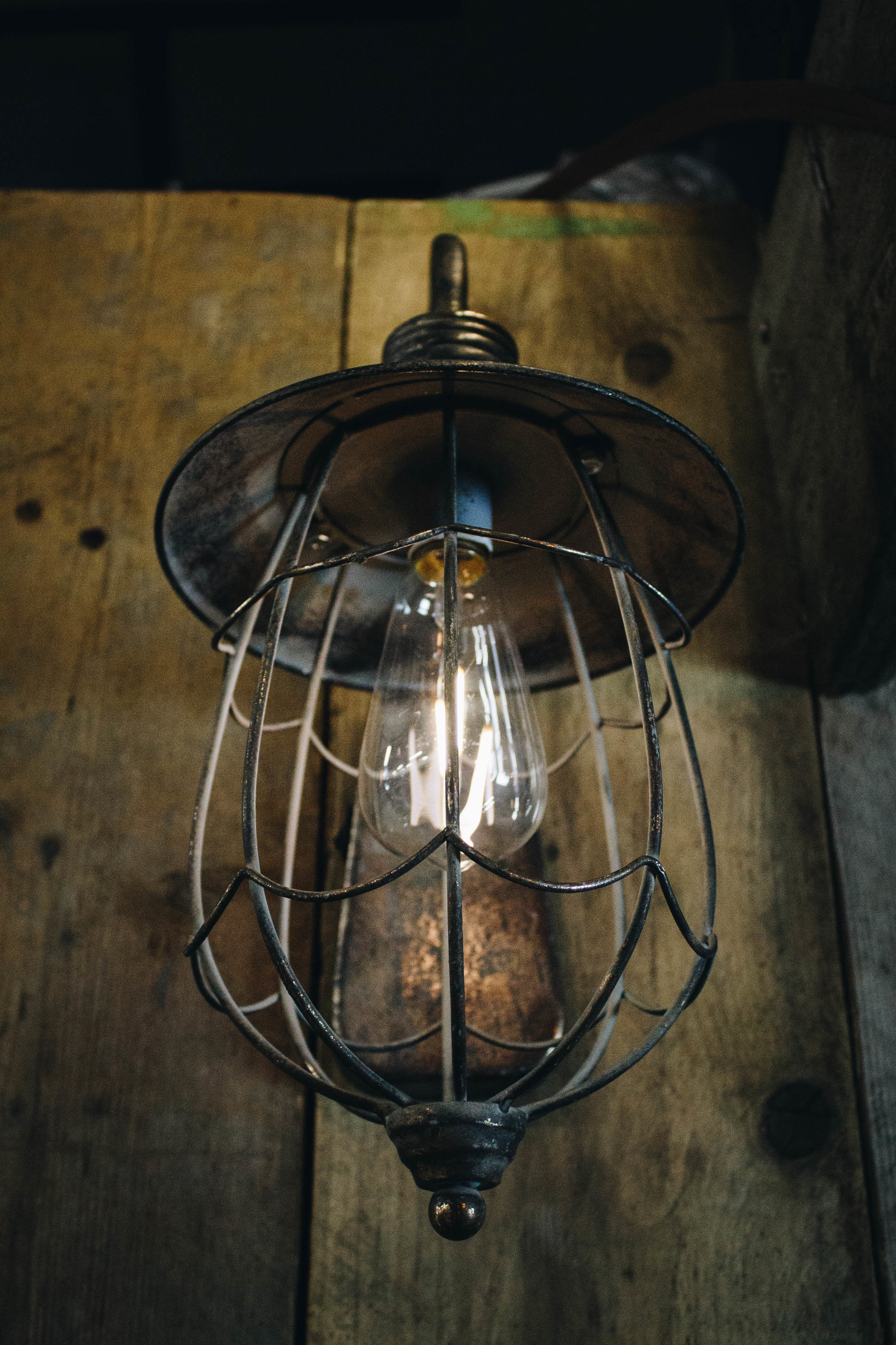 Rustic Style Light With Vintage Lantern