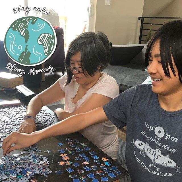 在这个前所未有的时代,大发平台网站的学生在家里忙得不可开交. 5小时500块拼图? 确定! 烘焙,烘焙,再烘焙! 🧩🧁# covid19 # stilllearning