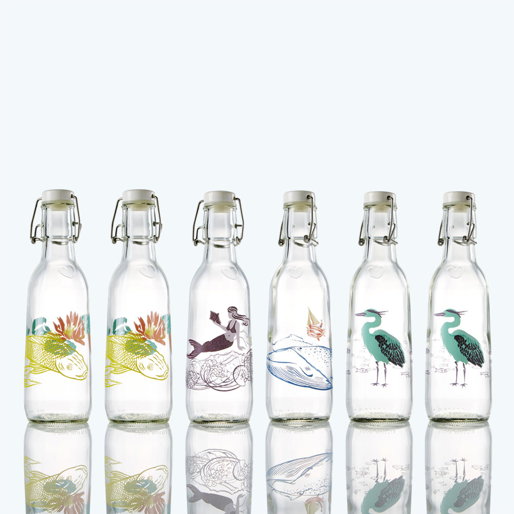 outlet for sale 100% top quality latest design 6 Pack - Whimsical Nature — Love Bottle - Beautiful Reusable Glass Water  Bottles
